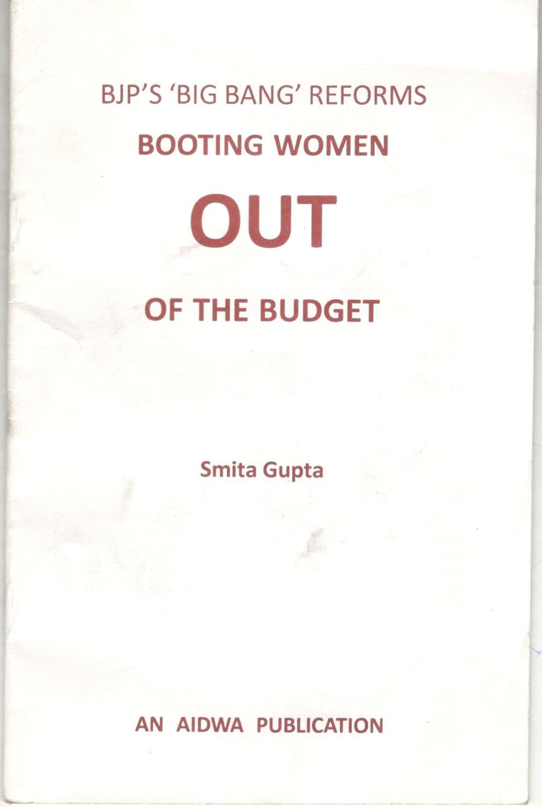 BOOTING WOMEN  OUT  OF THE BUDGET